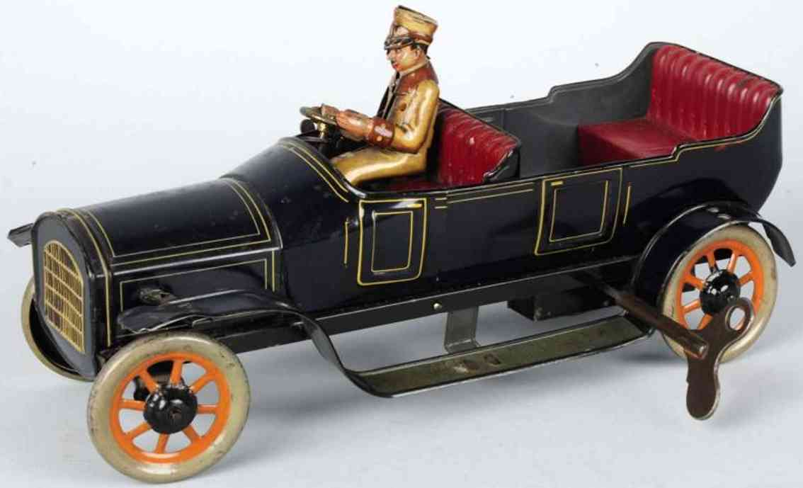 bing cabrio tin toy oldtimer touring car auto wind-up