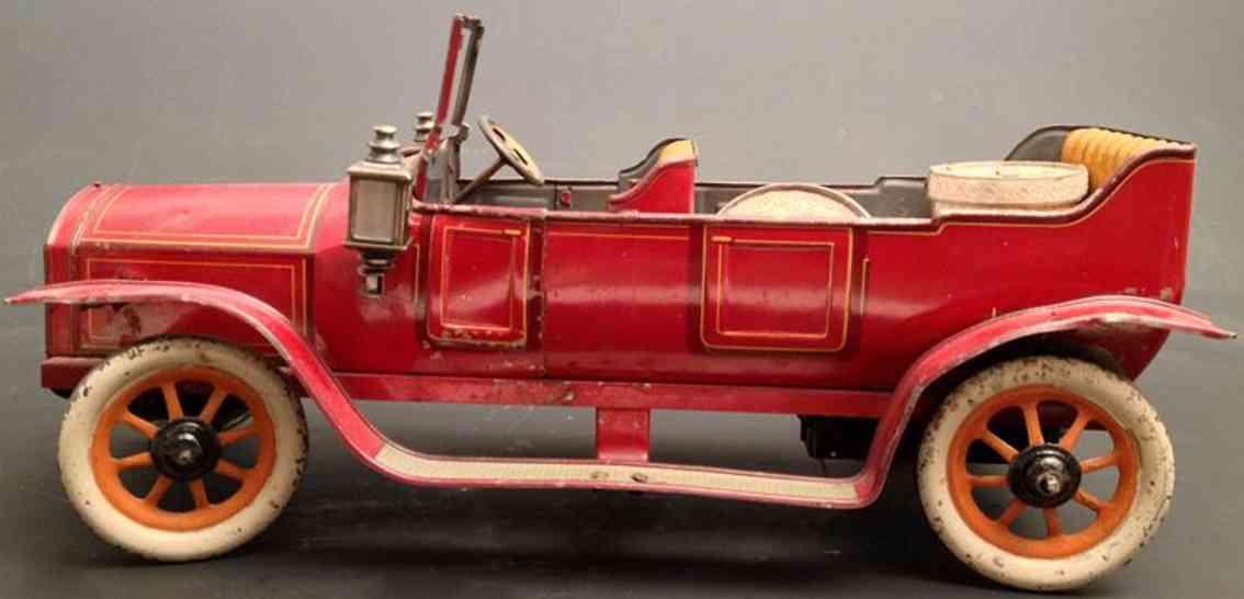 bing tin toy car elegant convertible clockwork red