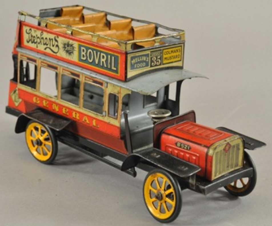 bing tin toy double decker omnibus