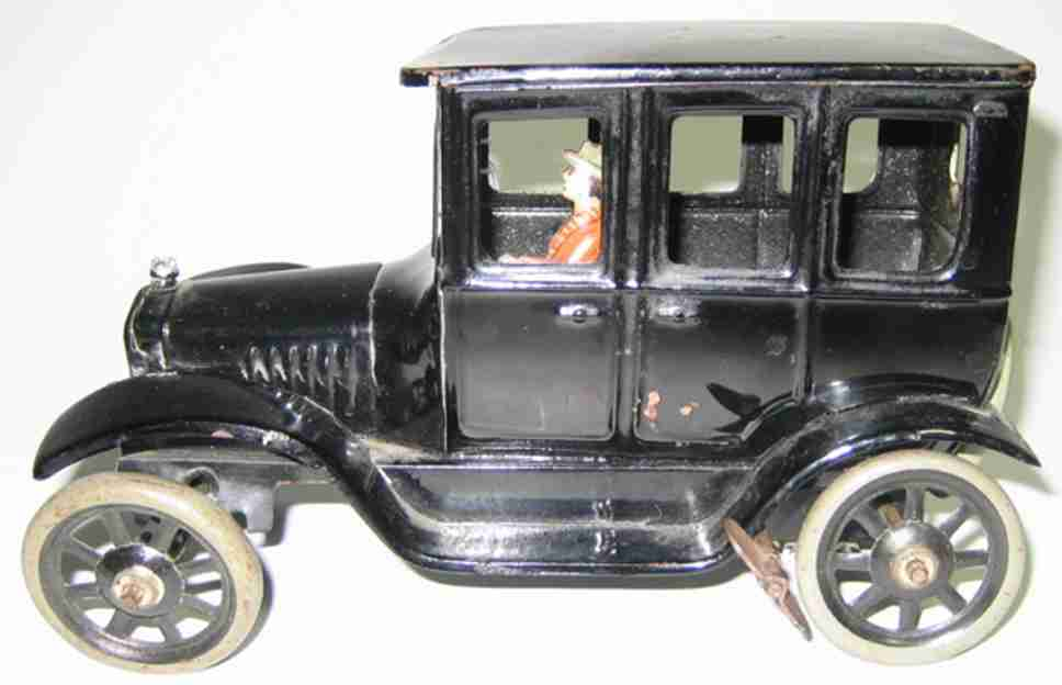 bing tin toy car ford clockwork lady driver
