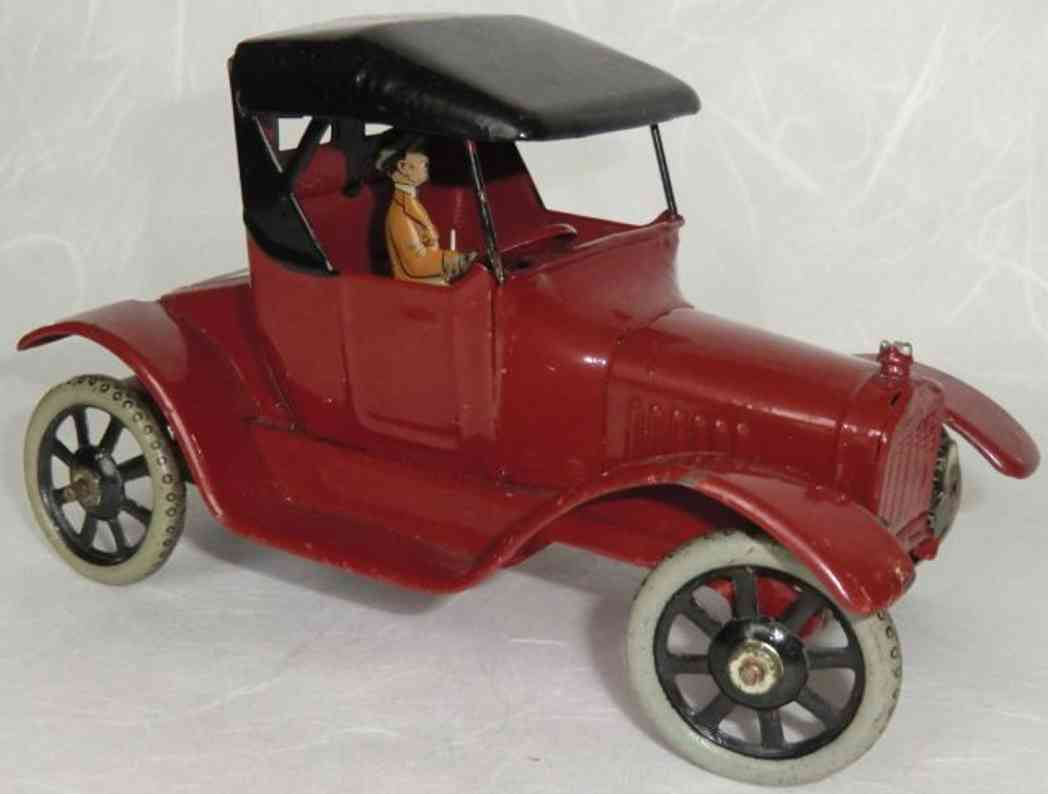 bing coupe tin toy car oldtimer in red