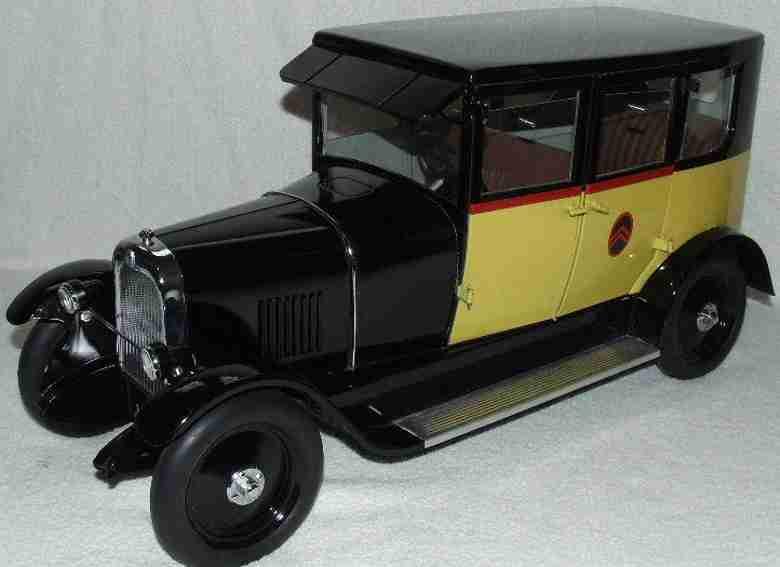 Brepsomn Toys Oldtimer Citroen B14 Sedan Tin Electric Toy Car