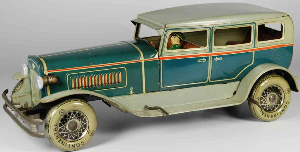karl bub 781 tin toy car duesenberg model j limousine green grey