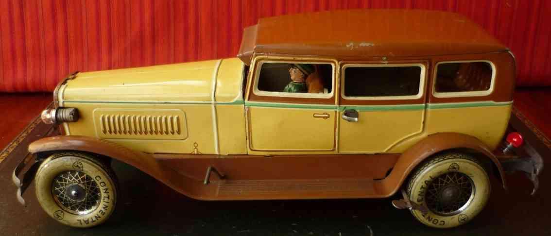 karl bub 781 blech spielzeug auto duesenberg horch limousine uhrwerk chauffeur
