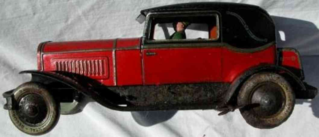 karl bub blech spielzeug auto coupe mit uhrwerk und fahrer