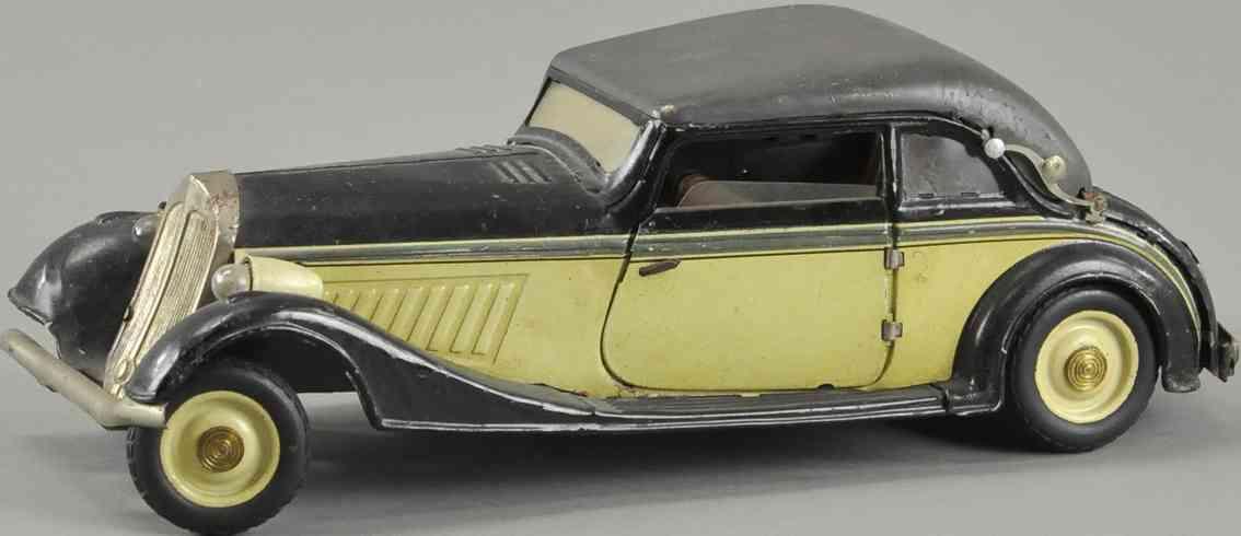 karl bub blech spielzeug luxus auto horch coupe mit elektrischen scheinwerfern
