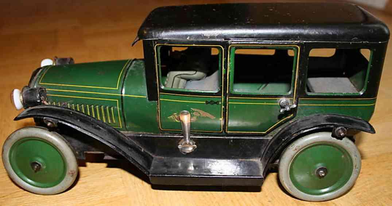 karl bub 1273 blech spielzeug auto limousine gruen schwarz fahrer uniform