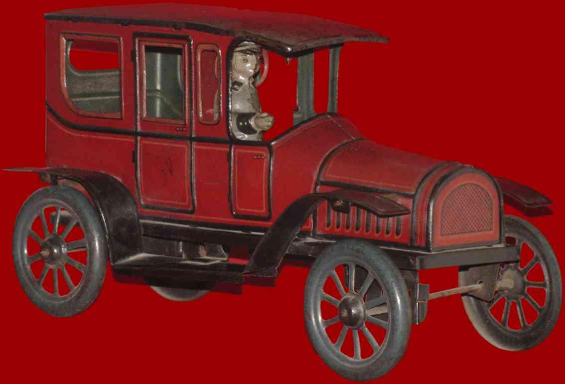 karl bub rot blech spielzeug auto limousine fahrer