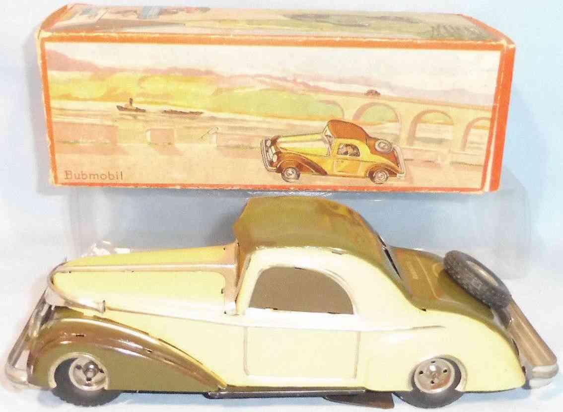 karl bub 300 blech spielzeug auto bubmobil uhrwerk gruen gelb