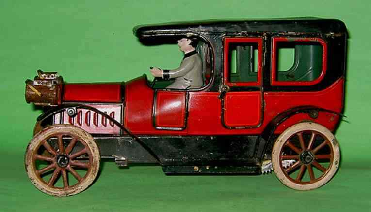 karl bub blech spielzeug auto limousine rot schwarz farher