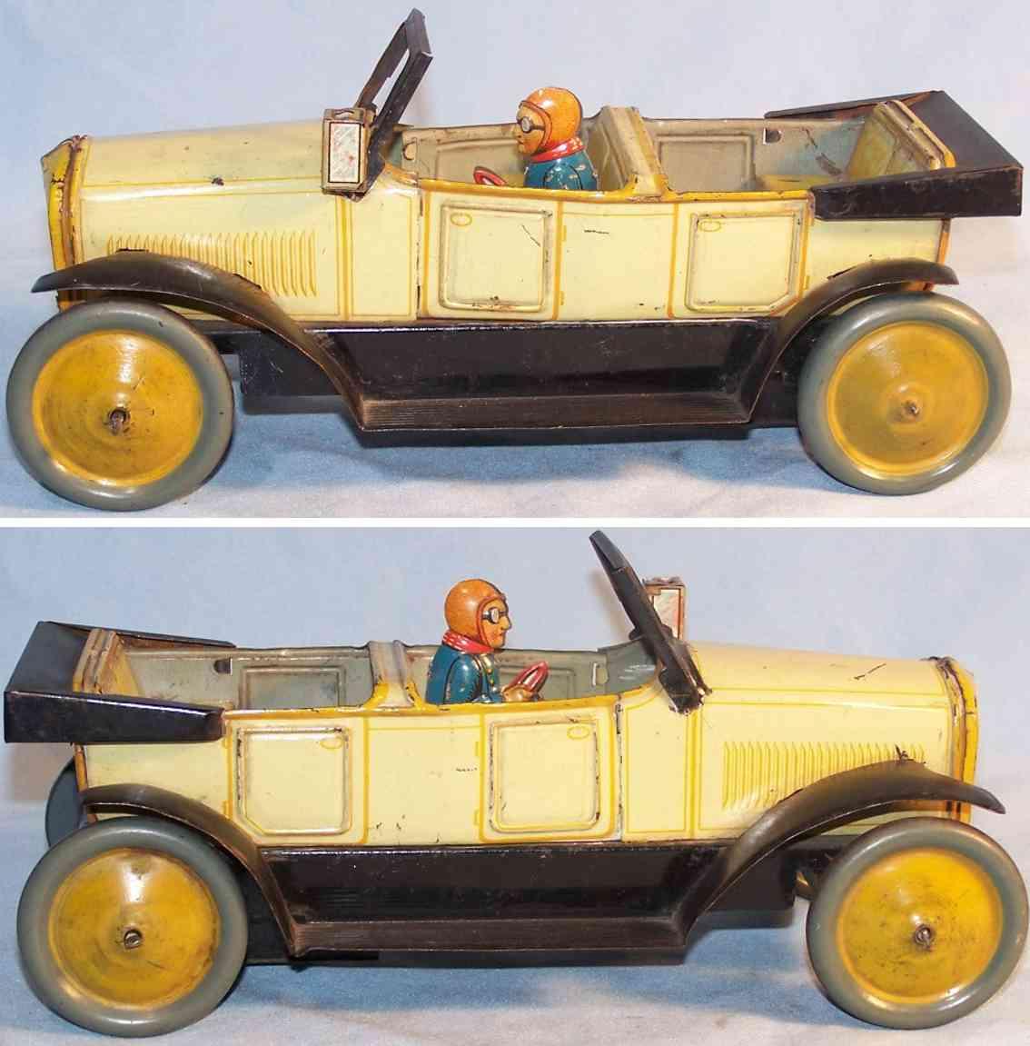 karl bub tin toy car cabriolet