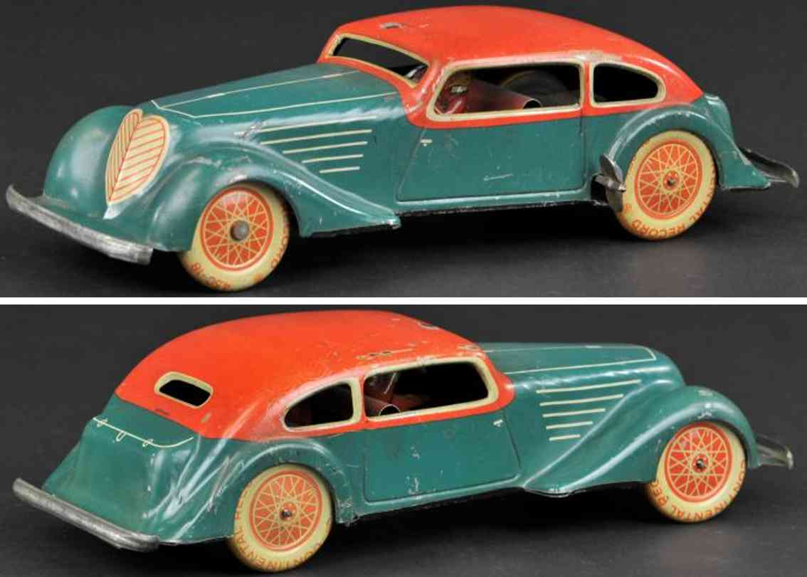 karl bub tin toy car coupe green red