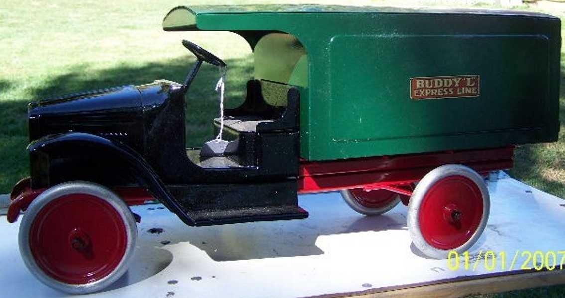 buddy l 200 blech spielzeug express line lastwagen