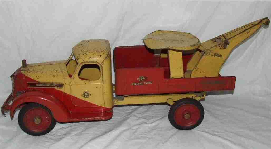 buddy l 4012 stahlblech spielzeug aufsitz-abschleppwagen