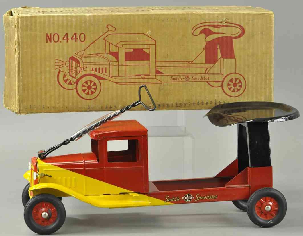 buddy l 440 blech spielzeug aufsitzlastwagen stahlblech rot gelb
