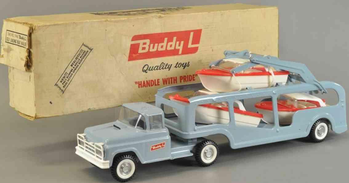 buddy l 5466 stahlblech spielzeug lastwagen selbstladender bootsschlepper