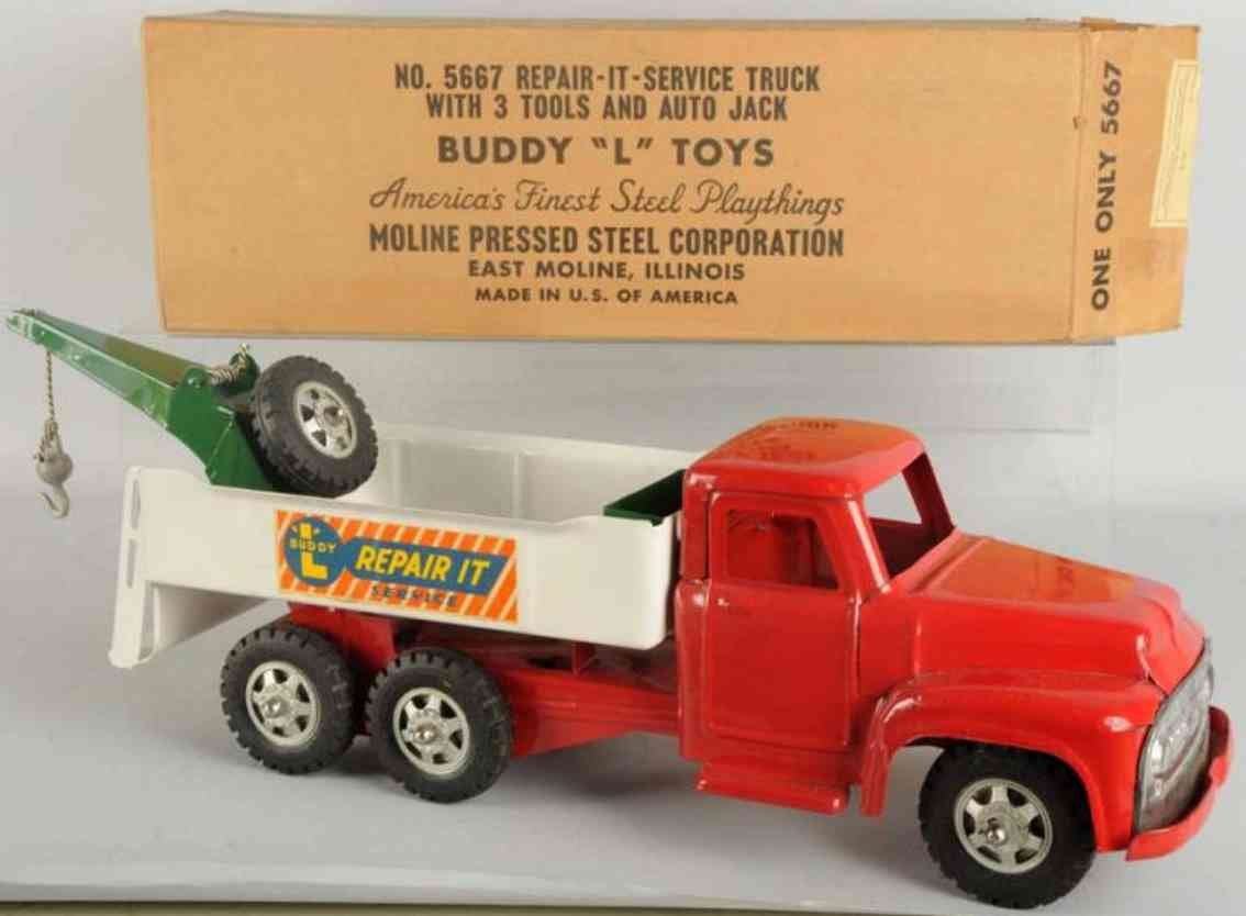 buddy l 5667 toy pressed steel repair-it-service truck