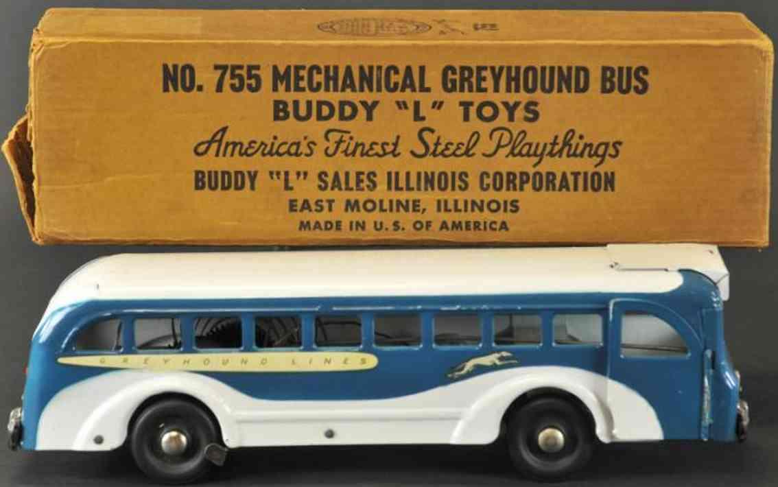buddy l 755 stahlblech spielzeug greyhound bus