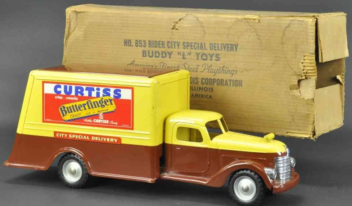 buddy l 853 curtiss wrigley's stahlblech spielzeug lieferwagen