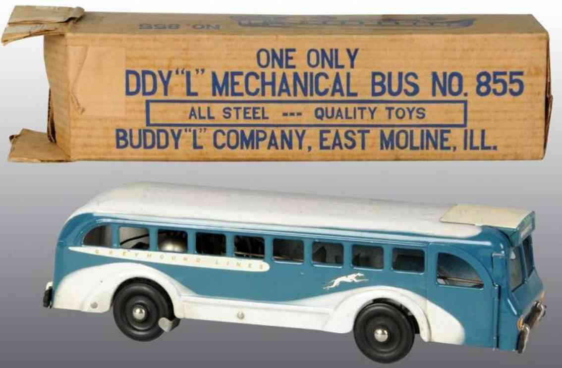 buddy l 855 stahlblech spielzeug autobus greyhound