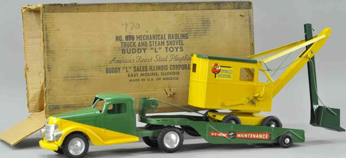 buddy l 870stahlblechspielzeug p.s. autobahnwartungsset gelb gruen