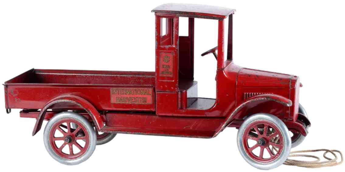 buddy lpressed steel toy baby international harvester truck red