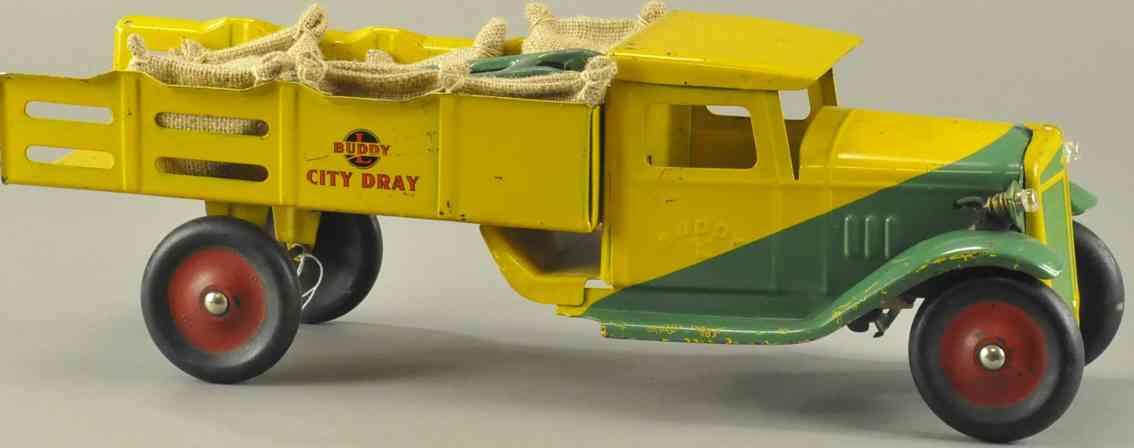 buddy l stahlblech spielzeug stadtwagen stahlblech gruen gelb
