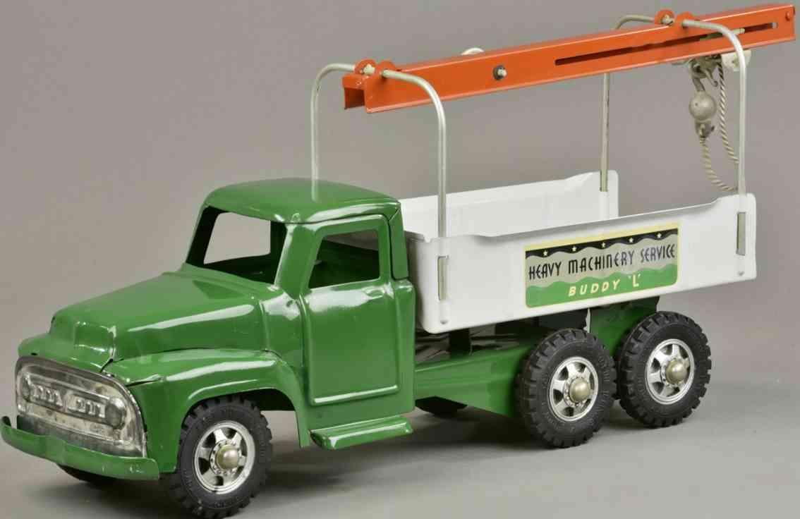 buddy l stahlblech spielzeug service lastwagen gruen weiss orange