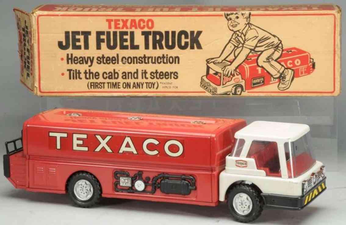 buddy l tin toy texaco jet fuel truck