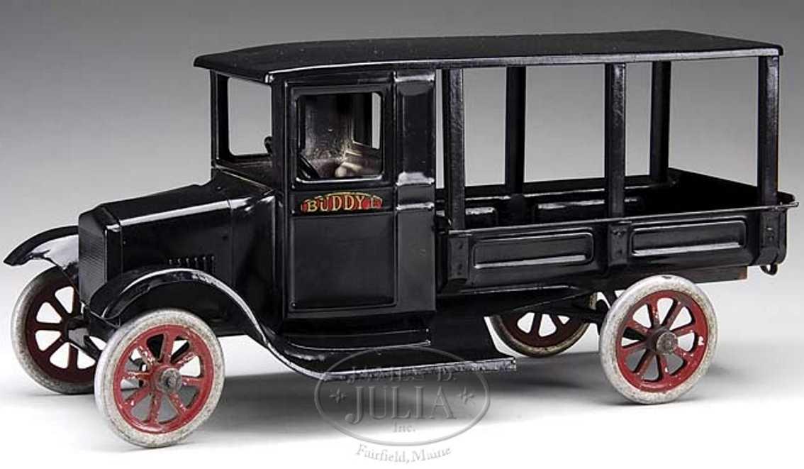 buddy l 212 a blech spielzeug auto ford lieferwagen in schwarz