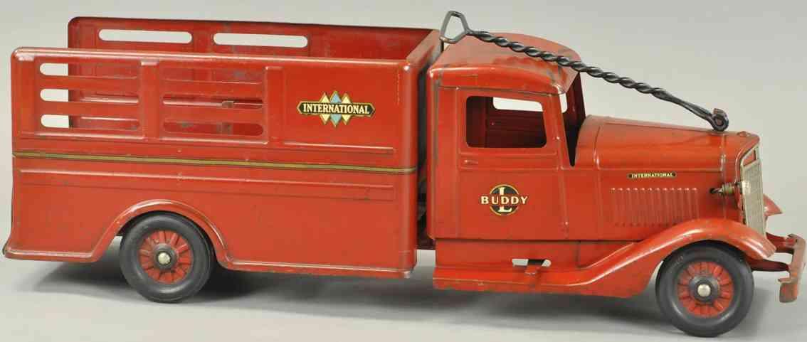 buddy l blech spielzeug internationaler kastenwagen rot