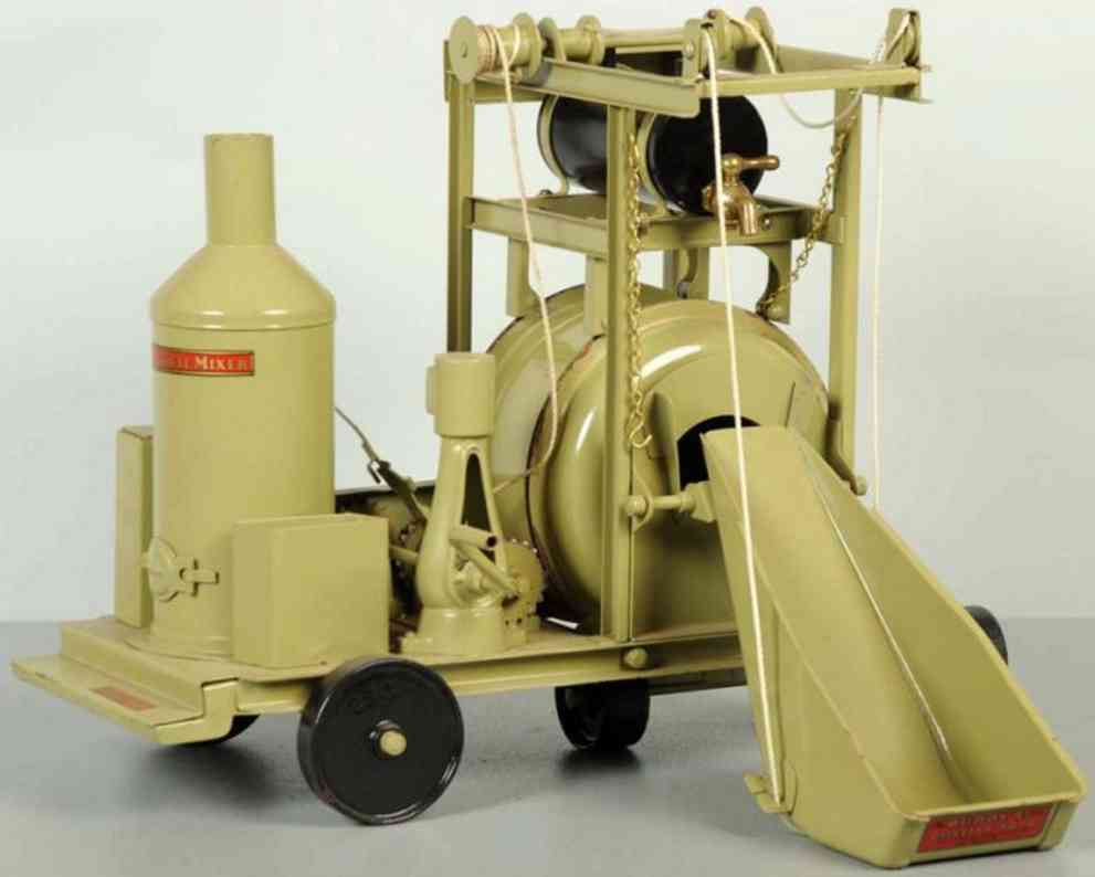 buddy l pressed steel toy cement mixer on wheels