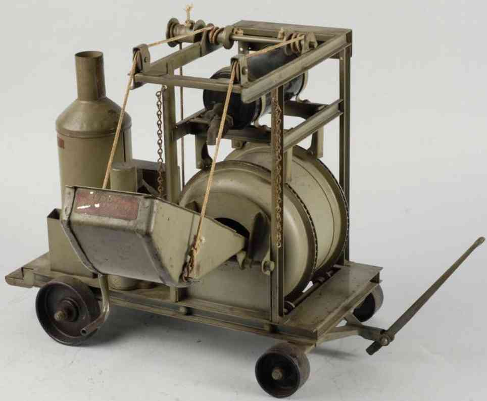 buddy l cement mixer toy pressed steel grey