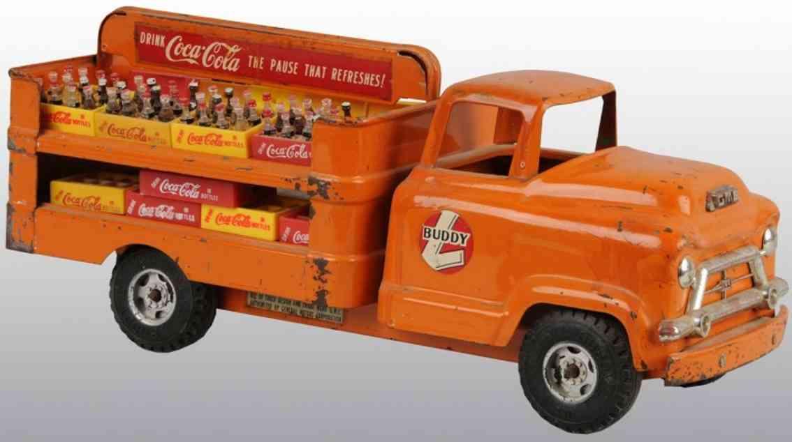 Buddy L Coca-Cola truck in orange
