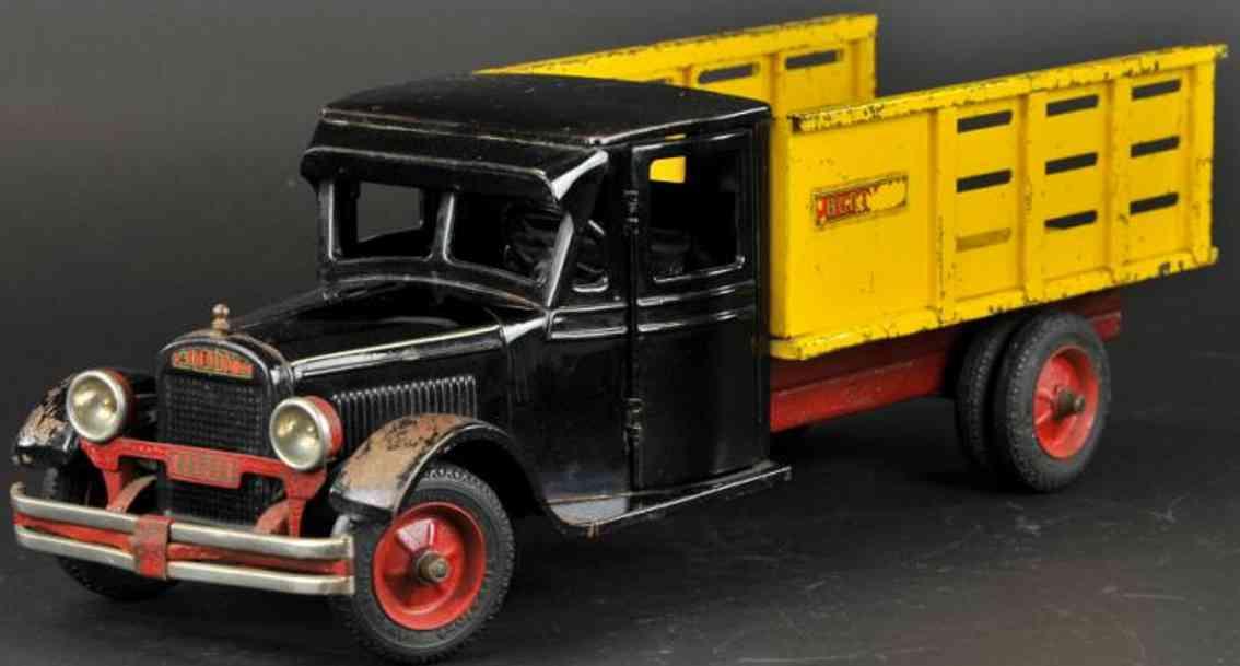 buddy l 2000 stahlblech spielzeug junior milchlastwagen