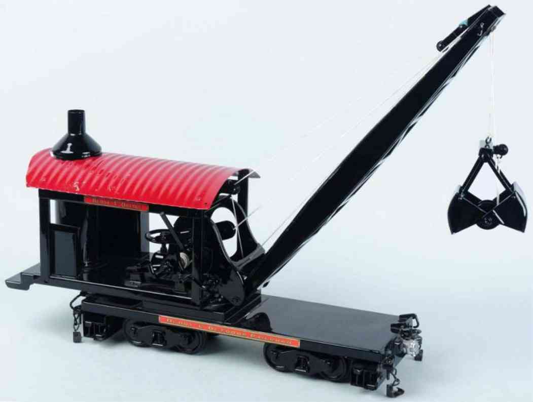 buddy l toy pressed steel t productions dredge car black red