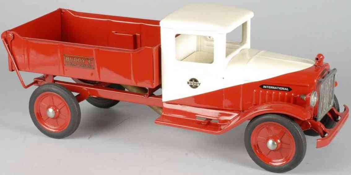 buddy l pressed stee toy international dump truck