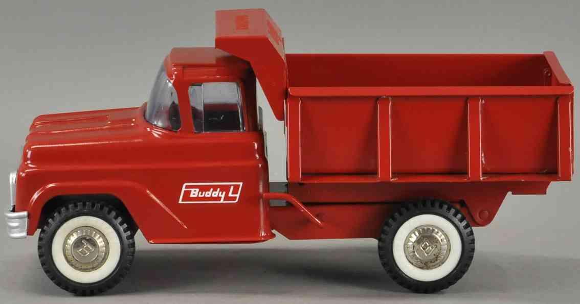buddy l blech spielzeug hydraulischer kipplastwagen rot