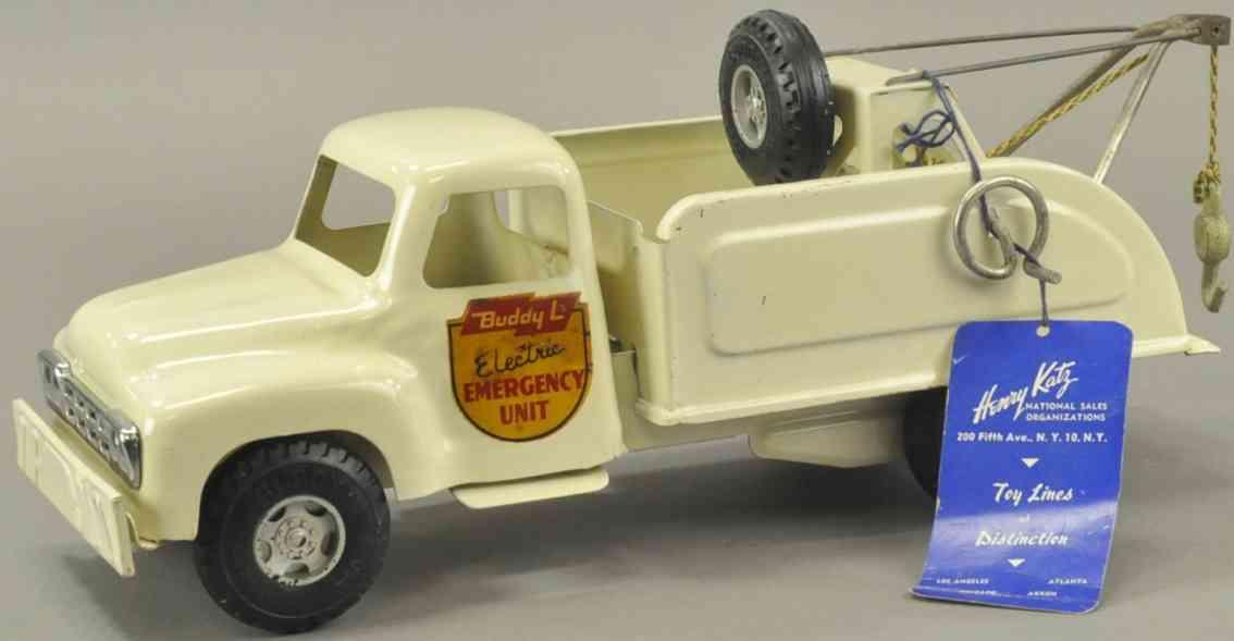 buddy lstahlblech spielzeug notfall-lastwagen weiss