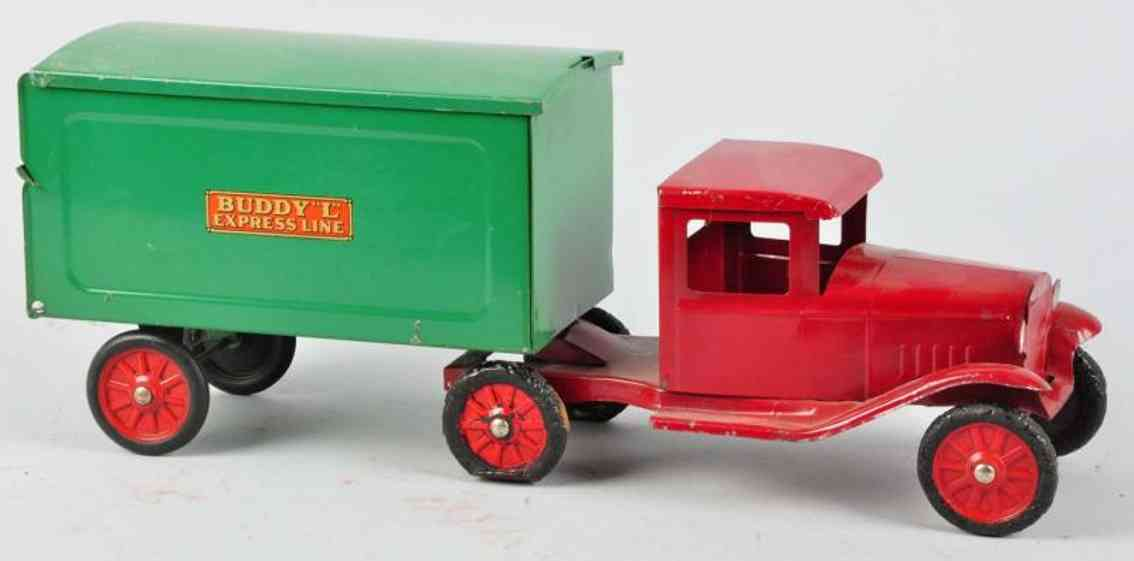 buddy l pressed steel toy truck express line tractor
