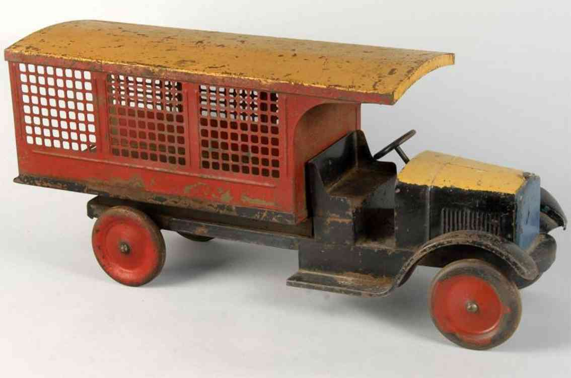 buddy l pressed steel toy truck express lines truck