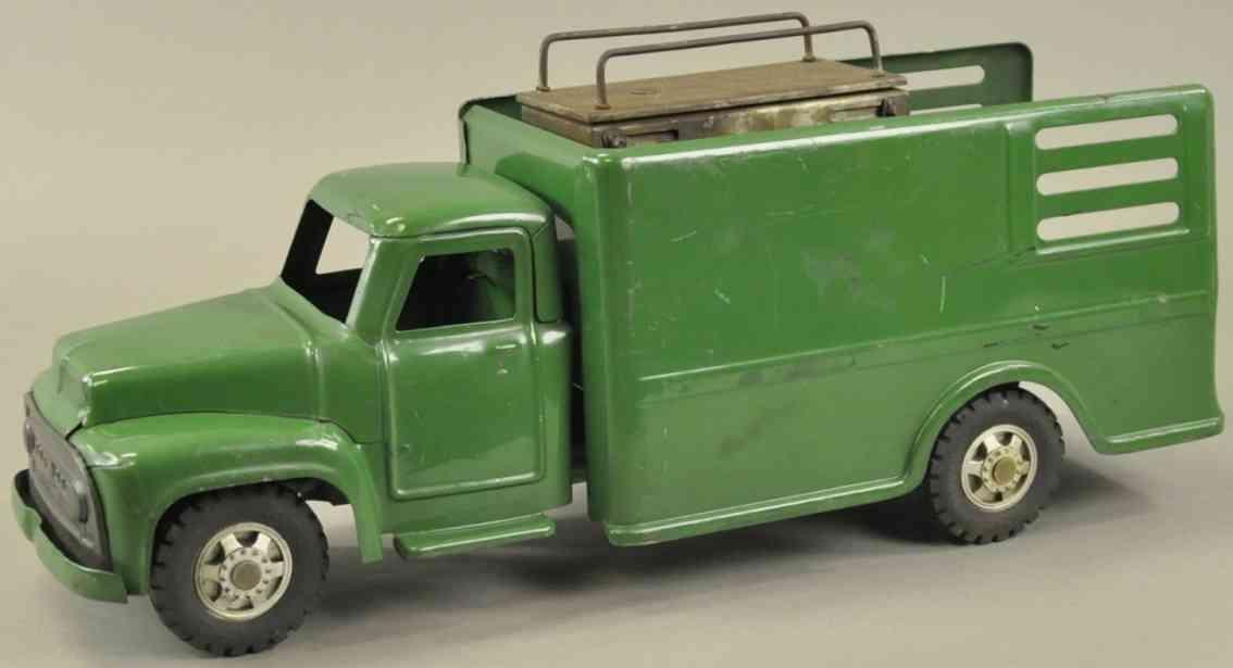 buddy l blech spielzeug express lastwagen lift prototyp gruen