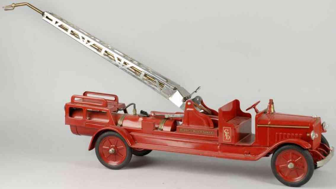 buddy l tower 81,3 stahlblech spielzeug feuwehrauto