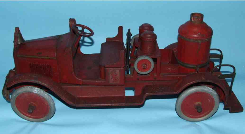 buddy l 205ab blech spielzeug feuwehrwagen pumpe