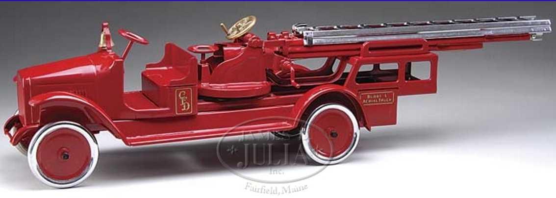 buddy l 205 B stahlblech spielzeug feuerwehrleiterwagen