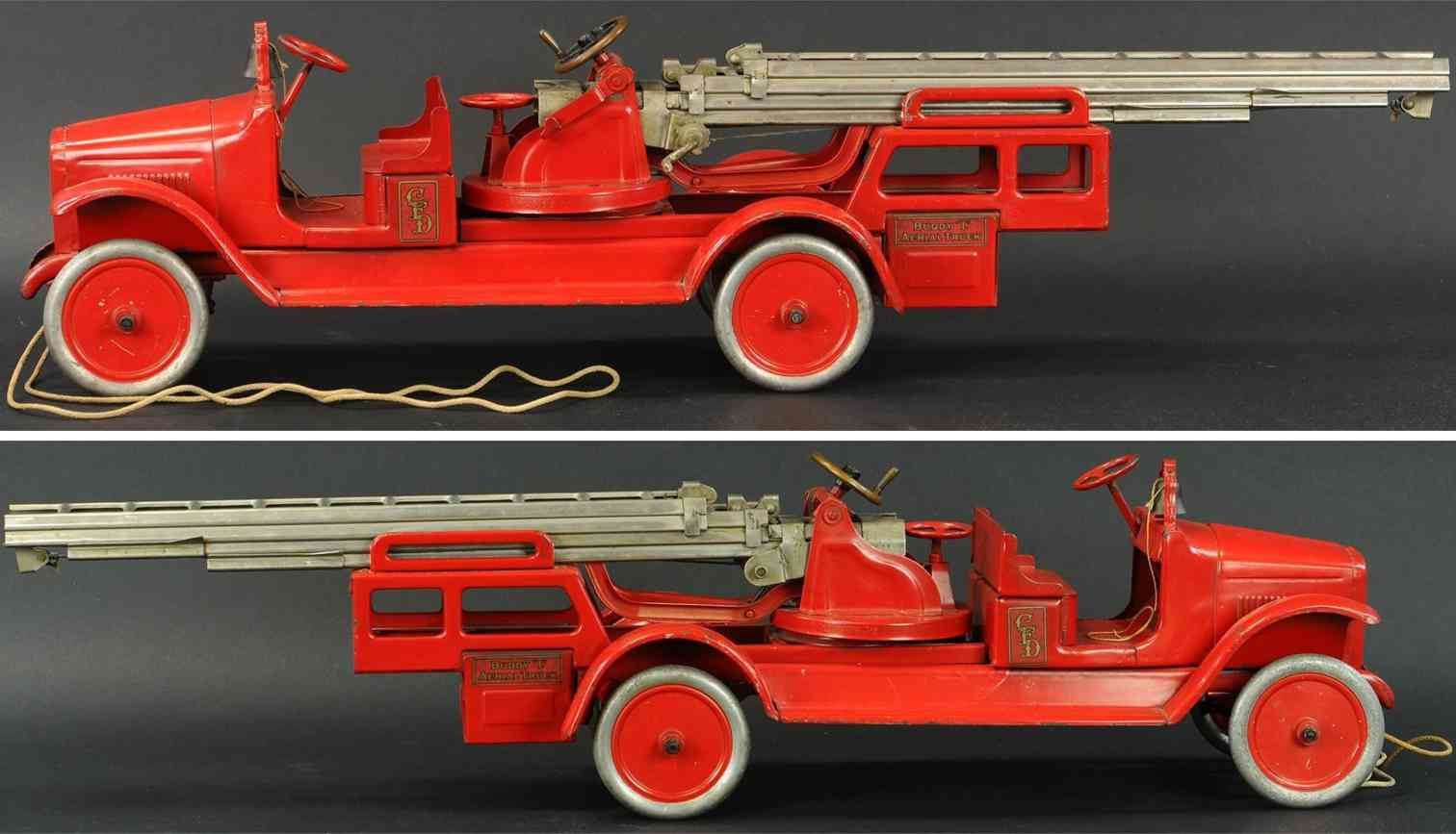 buddy l toy fire engine aerial fire truck presse dstell