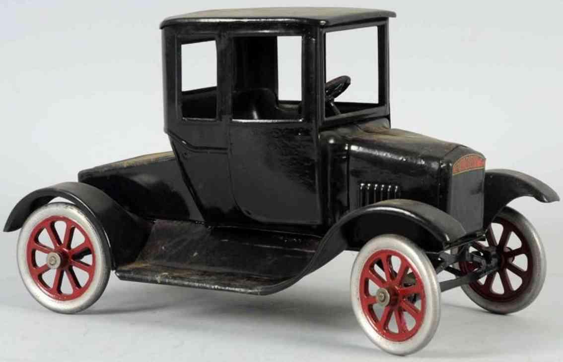 buddy l pressed steel toy car model t flivver black