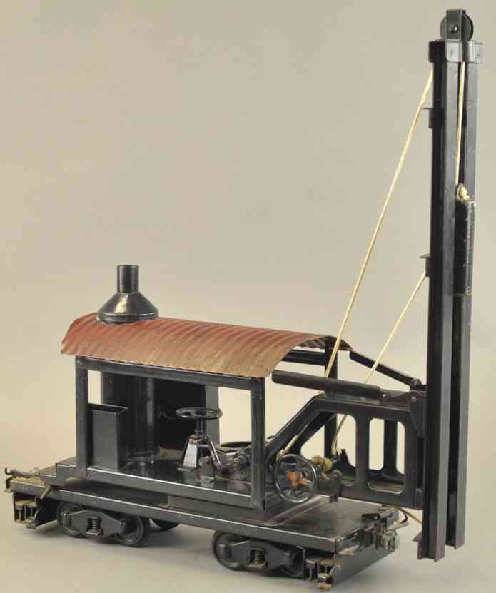 buddy l pressed steel toy locomotive pile driver