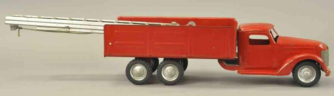 buddy l stahlblech spielzeug prototyp feuerwehrleiterwagen rot
