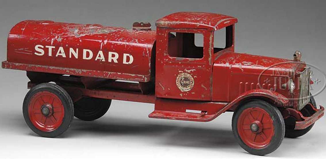 buddy l blech spielzeug standard tanklastwagen rot